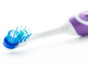 Electric toothbrush isolated on a white background